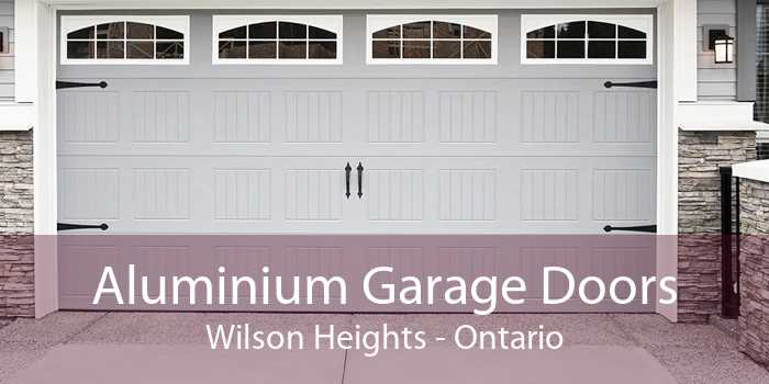 Aluminium Garage Doors Wilson Heights - Ontario