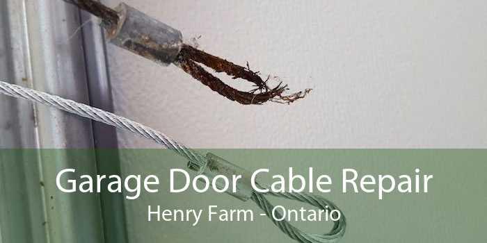 Garage Door Cable Repair Henry Farm - Ontario