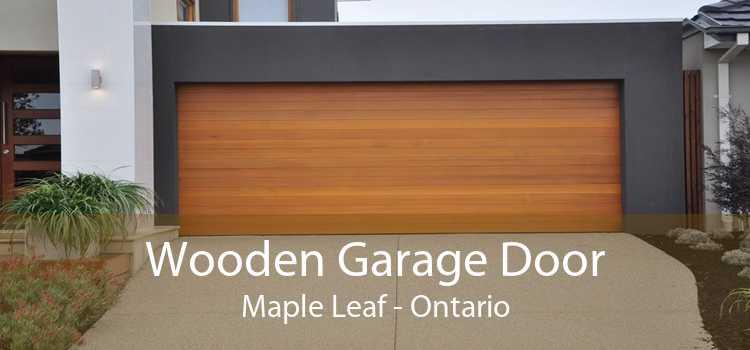 Wooden Garage Door Maple Leaf - Ontario