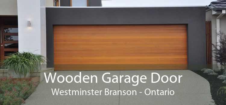 Wooden Garage Door Westminster Branson - Ontario